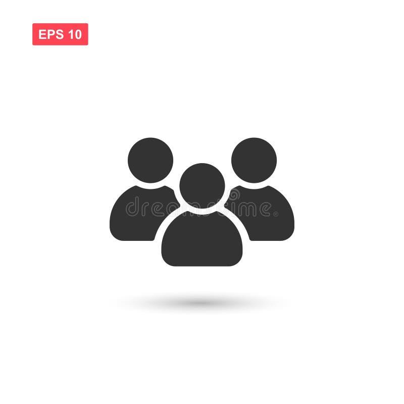 Gruppo di persone piano il simbolo 2 di vettore dell'icona royalty illustrazione gratis