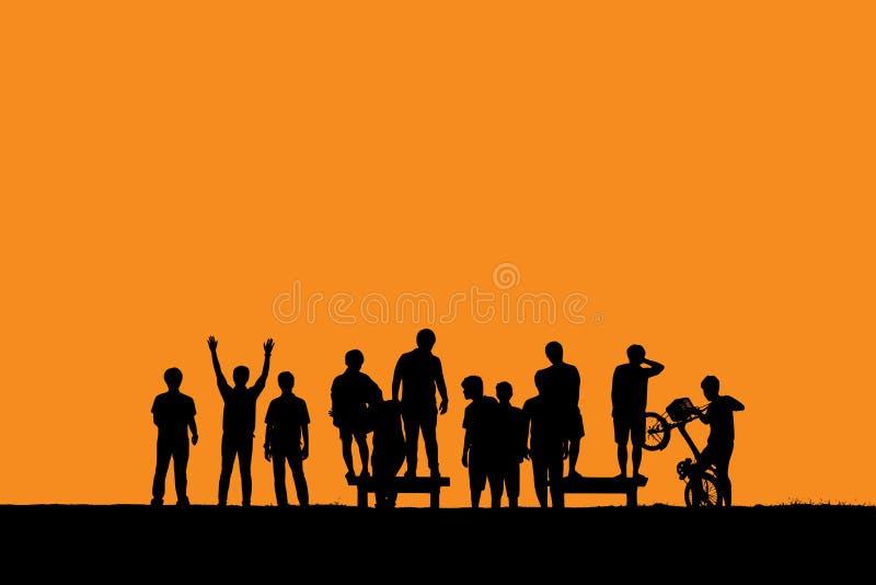 Gruppo di persone rilassamento fotografie stock