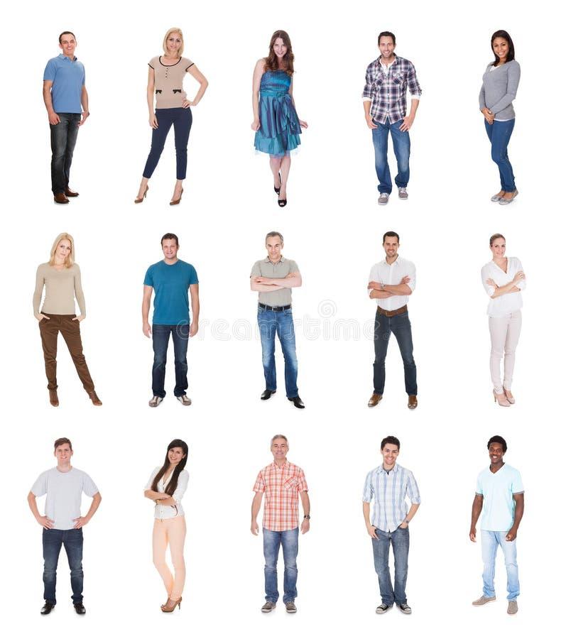 Gruppo di persone vestiti in casuale fotografia stock libera da diritti