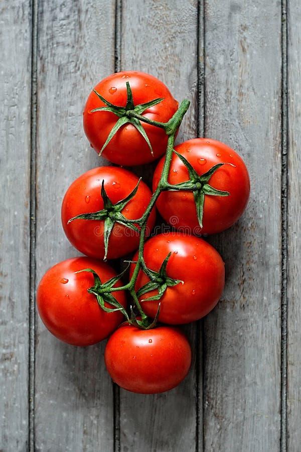 Gruppo di pomodori maturi fotografia stock