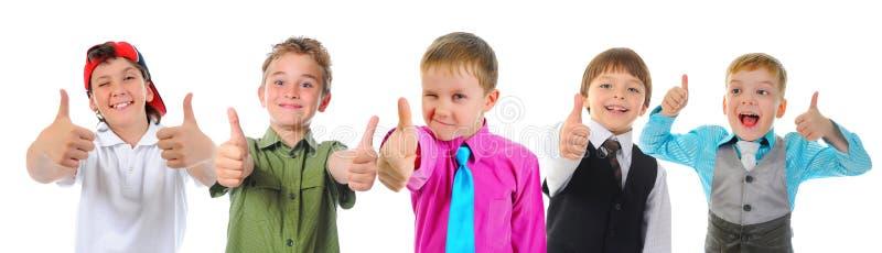 Gruppo di posa dei bambini fotografie stock