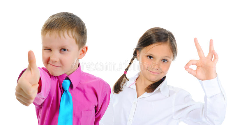 Gruppo di posa dei bambini fotografia stock libera da diritti