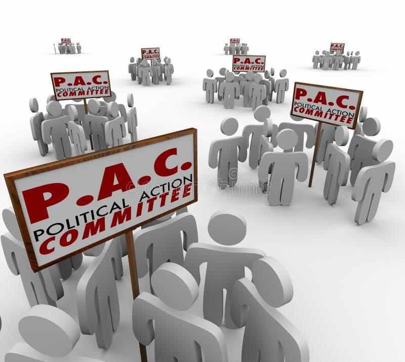Gruppo di pressione politico P dei gruppi di interesse speciale del comitato di azione del PAC royalty illustrazione gratis