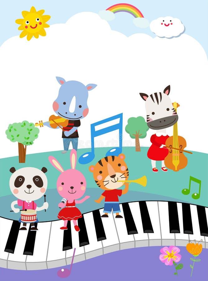 Gruppo di raccolta degli animali royalty illustrazione gratis