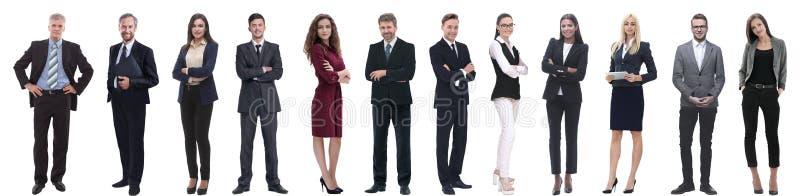 Gruppo di riuscita gente di affari isolata su bianco immagine stock