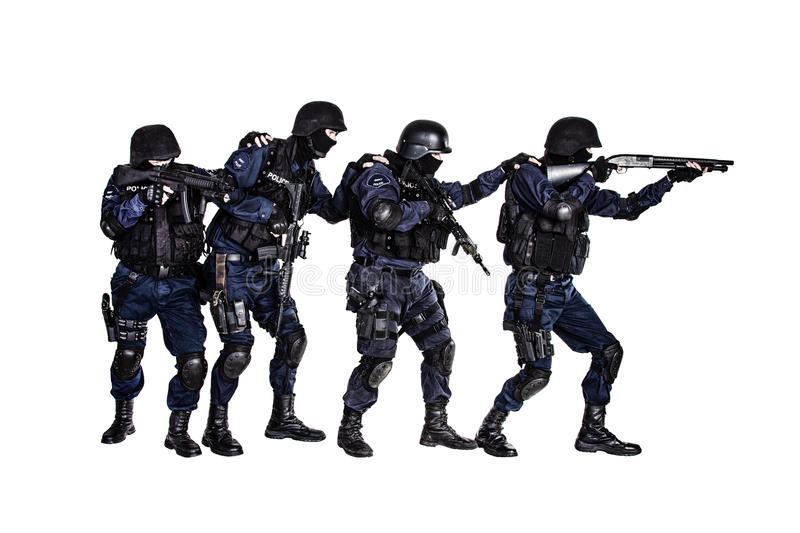 Gruppo di SCHIAFFO nell'azione immagine stock