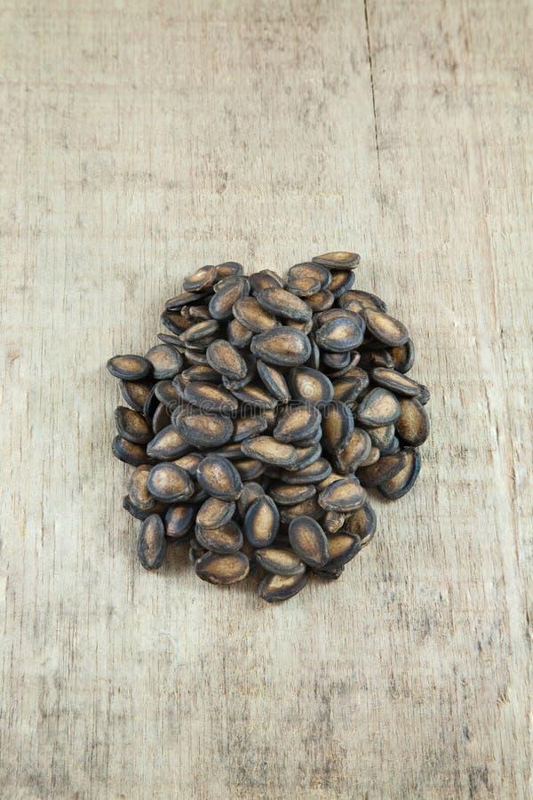Gruppo di semi dell'anguria fotografie stock
