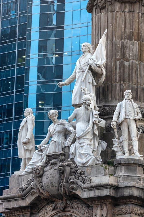 Gruppo di statue di marmo di alcuni degli eroi della guerra di Indipendenza immagini stock libere da diritti