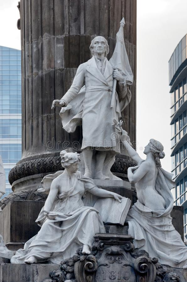 Gruppo di statue di marmo di alcuni degli eroi della guerra di Indipendenza fotografia stock libera da diritti