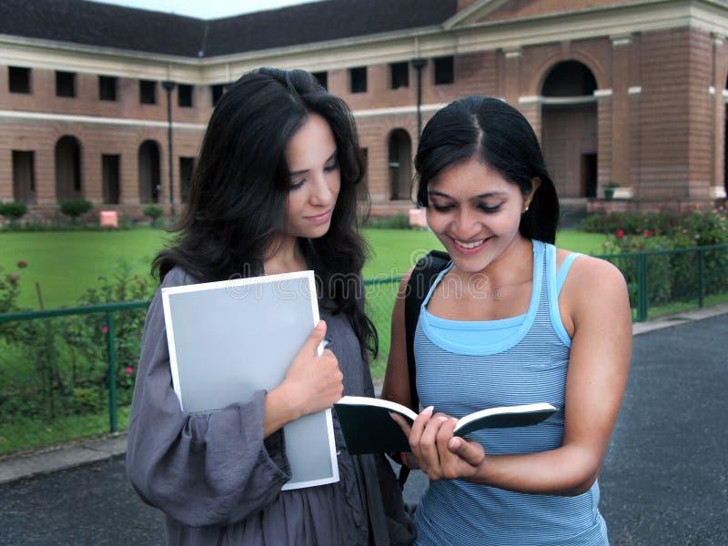 Gruppo di studenti di college indiani. fotografia stock libera da diritti