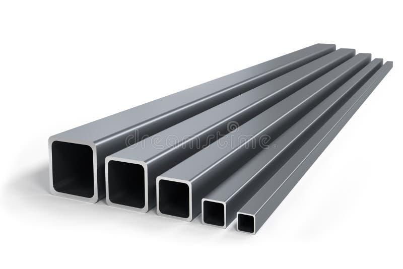 Gruppo di tubi quadrati della dimensione differente fotografie stock