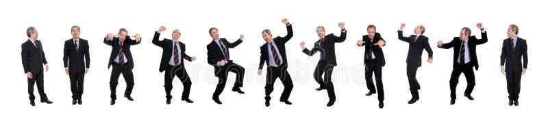 Gruppo di uomini felici di affari fotografia stock