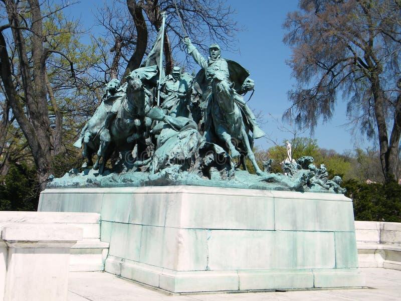 Gruppo 2010 di Washington Grant Memorial Cavalry immagini stock