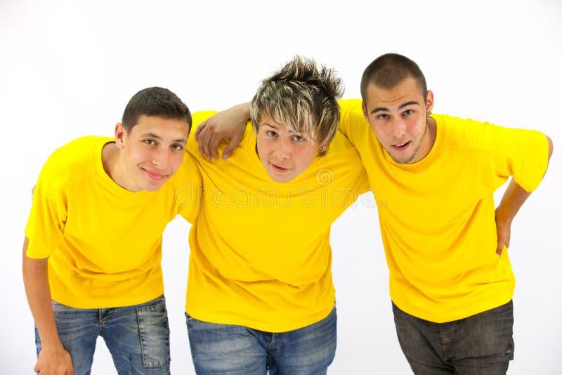 Gruppo felice di adolescenti fotografie stock libere da diritti
