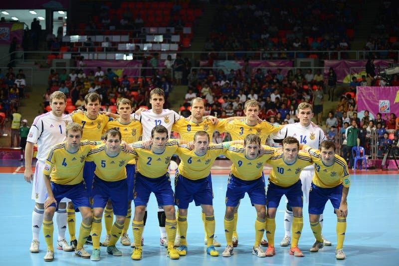Gruppo futsal nazionale dell'Ucraina fotografia stock