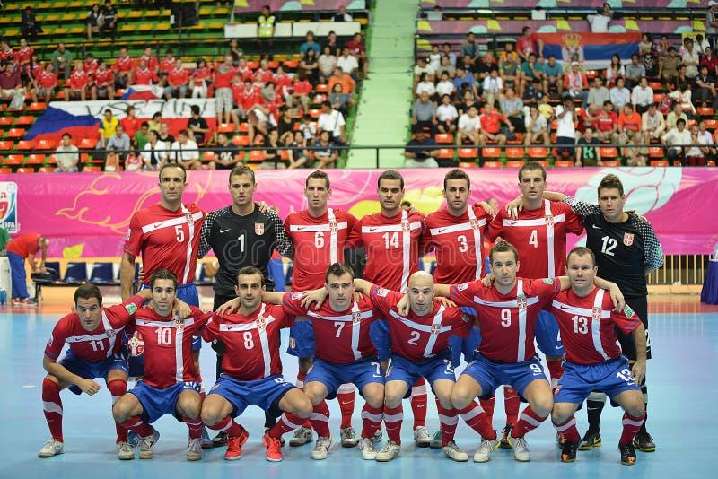 Gruppo futsal nazionale della Serbia immagine stock
