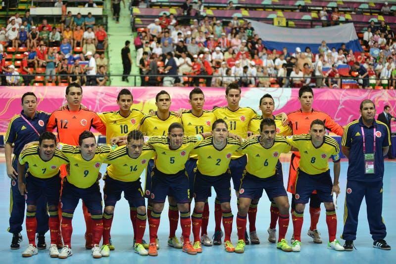 Gruppo futsal nazionale di Colombia fotografie stock