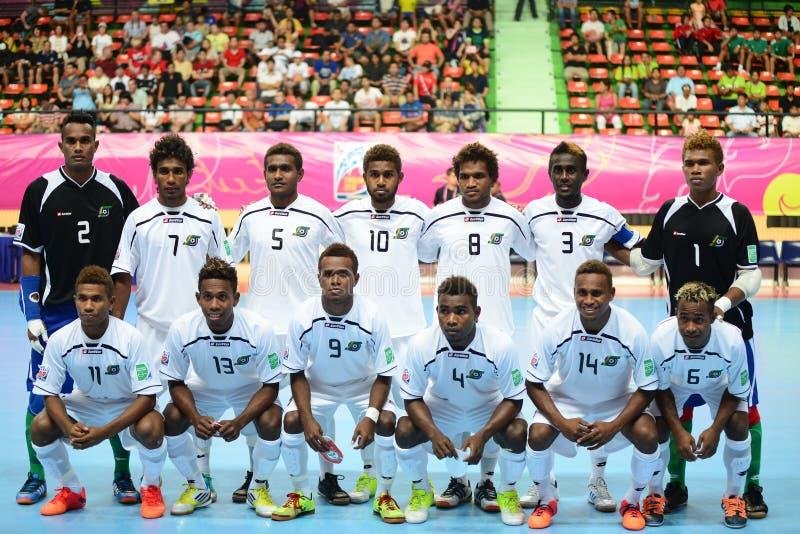 Gruppo futsal nazionale di Solomons immagine stock