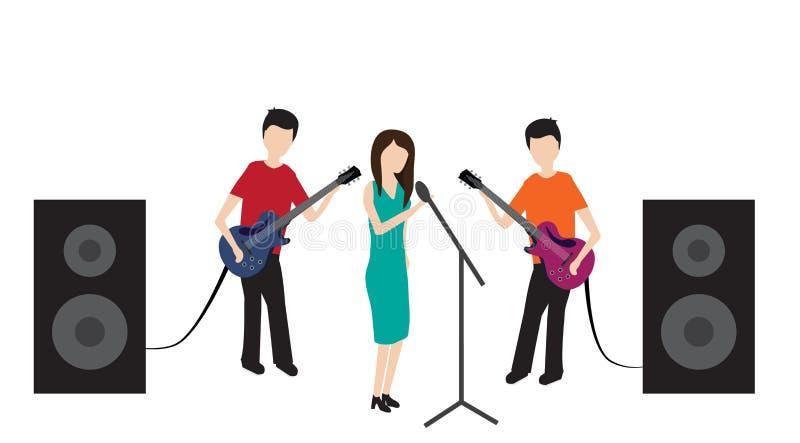 Gruppo isolato di schiocco di concerto dell'illustrazione illustrazione vettoriale