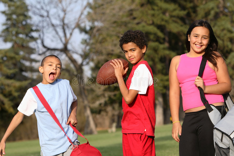 Gruppo Multiracial di bambini immagine stock libera da diritti