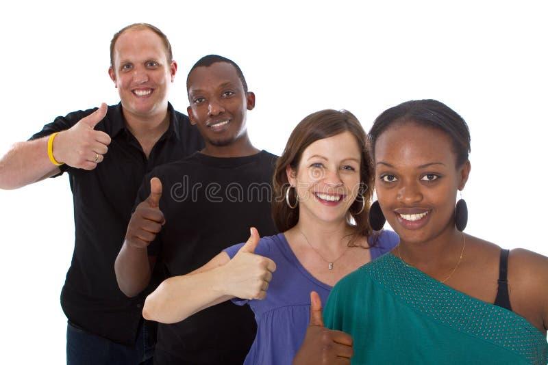 Gruppo multiracial fresco giovane immagini stock libere da diritti