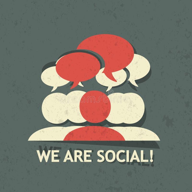 Gruppo sociale illustrazione vettoriale