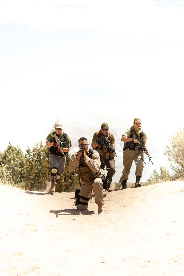 Gruppo tattico delle forze speciali fotografie stock libere da diritti
