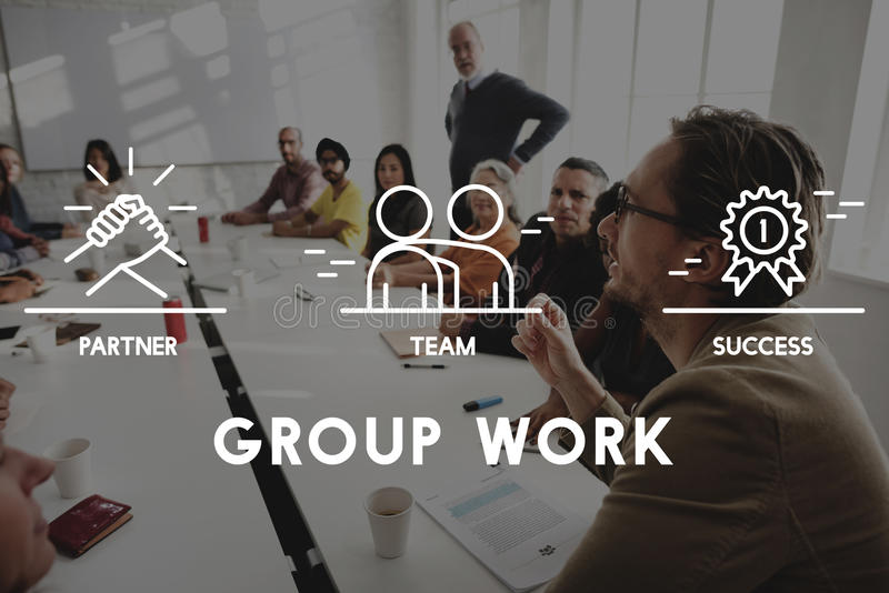 Gruppo Team Work Organization Concept fotografia stock libera da diritti
