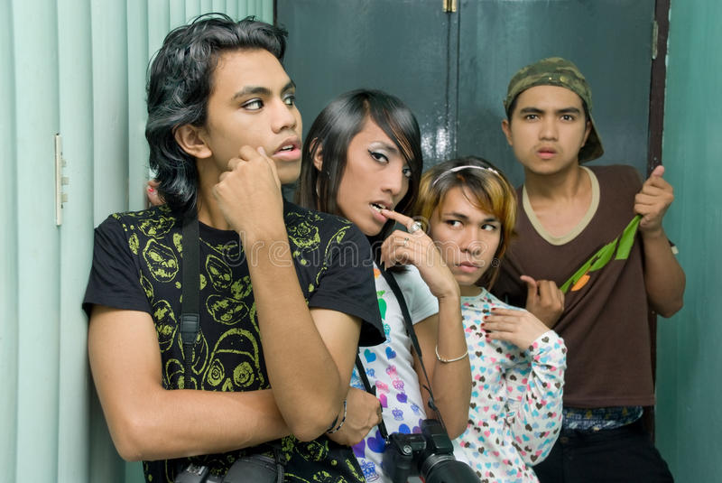 Gruppo teenager punk fotografie stock libere da diritti