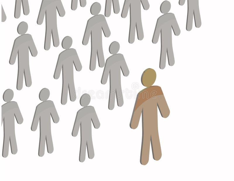 Gruppo umano illustrazione di stock