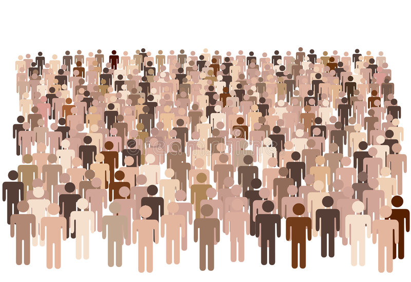 Gruppo vario della gente della popolazione royalty illustrazione gratis