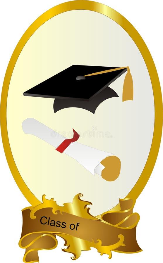 gruppramavläggande av examen stock illustrationer