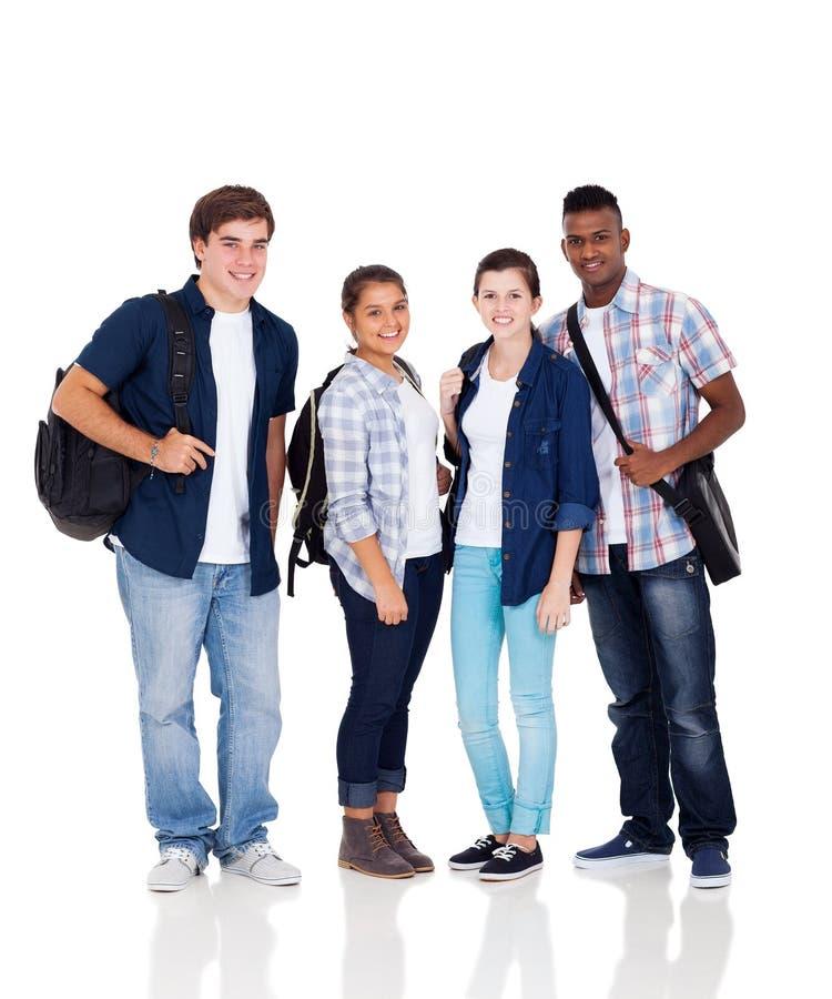 Gruppskolastudenter arkivfoton