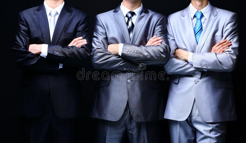 Gruppstående av ett yrkesmässigt affärslag arkivfoto