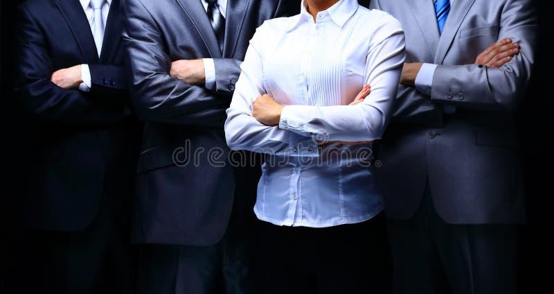 Gruppstående av ett yrkesmässigt affärslag royaltyfria foton