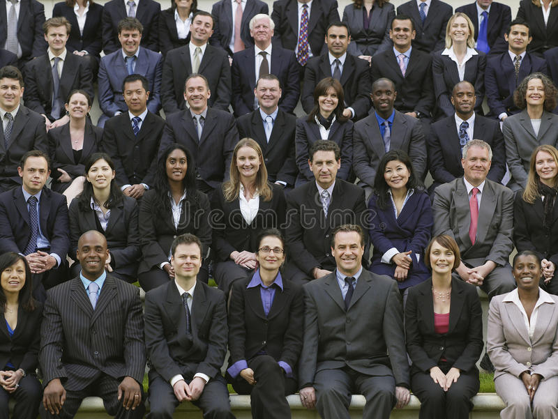 Gruppstående av multietniska Businesspeople royaltyfri foto