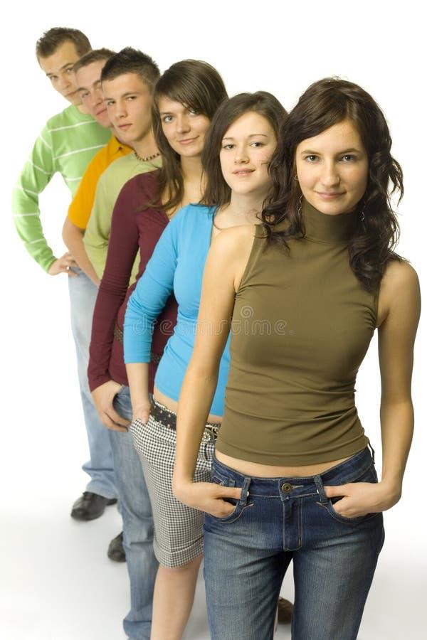 grupptonåringar fotografering för bildbyråer