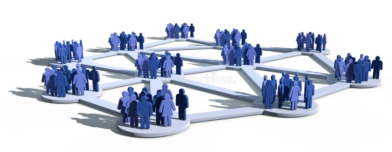 grupuje sieć socjalny ilustracji