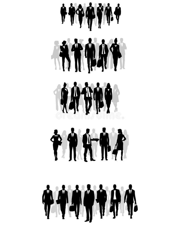 Grupy biznesmen sylwetki royalty ilustracja