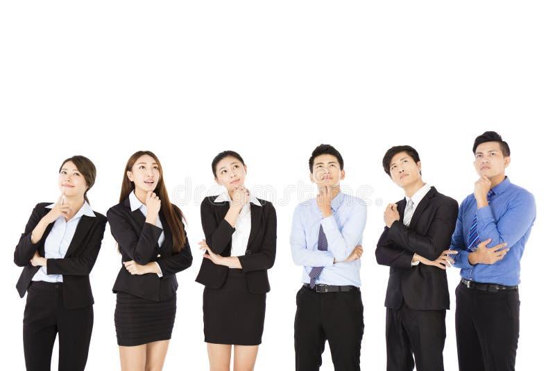 Grupy biznesowej główkowanie i przyglądający up zdjęcia royalty free