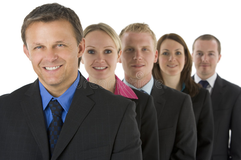 grupy biznesowej linia ludzie ja target1300_0_ zdjęcie royalty free