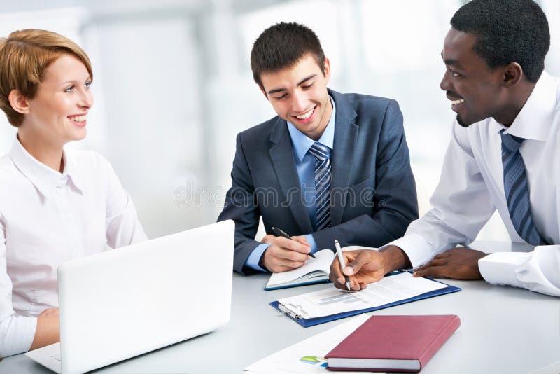 Grupy biznesowej spotkania portret obraz stock