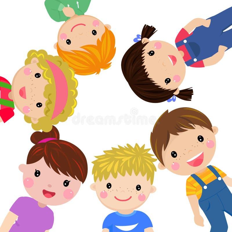 grupy dzieci szczęśliwe ilustracja wektor