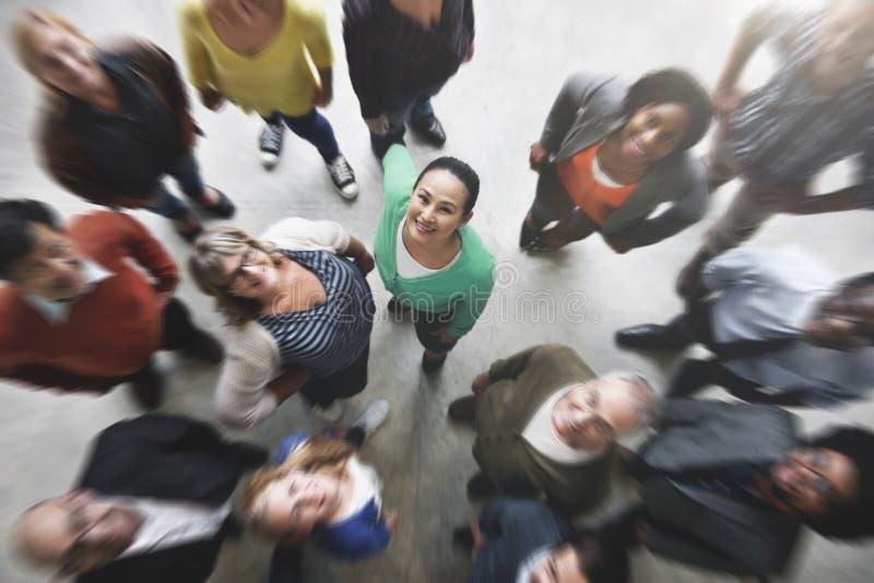 Grupy Ludzi Drużynowej różnorodności Uśmiechnięty pojęcie fotografia royalty free