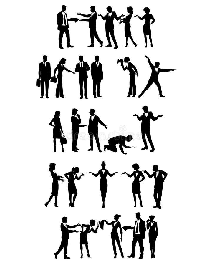 Grupy ludzie biznesu ilustracji