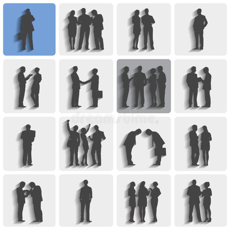 Grupy ludzie biznesu Stoi Pracującego dyskusi pojęcie ilustracja wektor