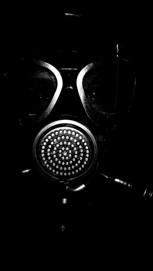 Gruselige Gasmaske stockfotos