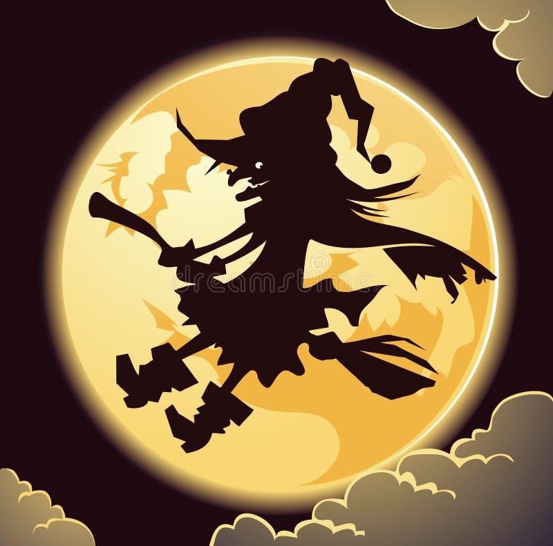 Gruselige Hexe stock abbildung