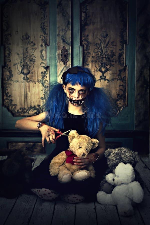 Gruselige Puppe lizenzfreies stockbild