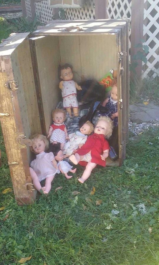Gruselige Puppen lizenzfreie stockfotos